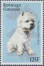 "Gabon 1996 ""China '96"" Philatelic Exhibition - Dogs g"