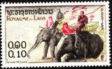 Laos 1958 Elephants a
