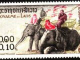 Laos 1958 Elephants
