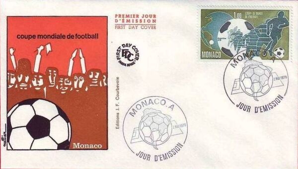 Monaco 1978 11th World Football Cup Championship FDCb