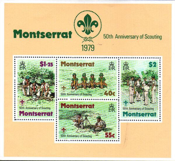 Montserrat 1979 50th Anniversary of Scouting in Montserrat h