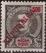 Mozambique 1911 D. Carlos I Overprinted n