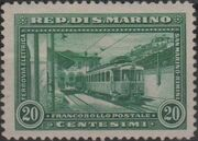 San Marino 1932 New Electric Railway Between San Marino and Rimini a