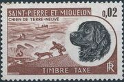 St Pierre et Miquelon 1973 Newfoundland Dog - Postage Due Stamps a