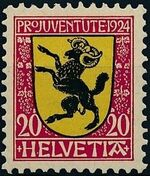 Switzerland 1924 PRO JUVENTUTE - Coat of Arms c