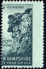 United States of America 1955 New Hampshire - The Old Man of the Mountains b