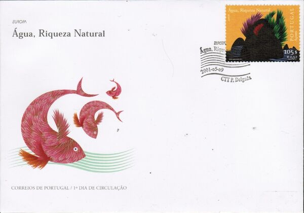 Azores 2001 EUROPA - Water, natural wealth FDCa