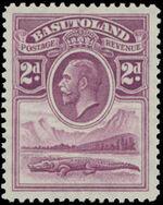 Basutoland 1933 George V, Crocodile and River Scene c