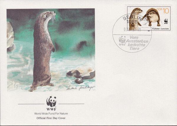 Germany DDR 1987 WWF - European Otter k