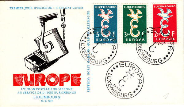 Luxembourg 1958 Europa M