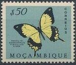 Mozambique 1953 Butterflies and Moths f