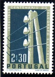 Portugal 1955 Centenary of Electric Telegraph System in Portugal b