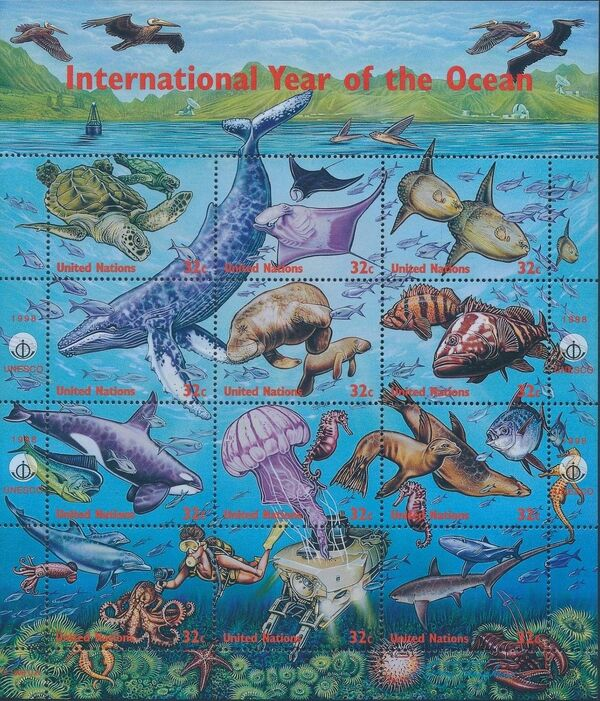 United Nations-New York 1998 International Year of the Ocean a