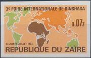 Zaire 1973 3rd International Fair in Kinshasa e
