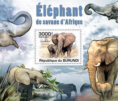 Burundi 2011 Elephants of the African Savanna SSh