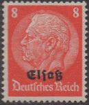 German Occupation-Alsace 1940 Stamps of Germany (1933-1936) Overprinted in Black e