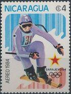 Nicaragua 1984 Winter Olympics - Sarajevo' 84 (Air Post Stamps) a