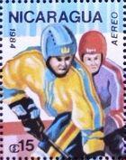 Nicaragua 1984 Winter Olympics - Sarajevo' 84 (Air Post Stamps) d