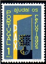 Portugal 1960 International Year of Refugees b