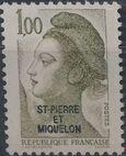 St Pierre et Miquelon 1986 Liberty from France Overprinted ST-PIERRE ET MIQUELON g