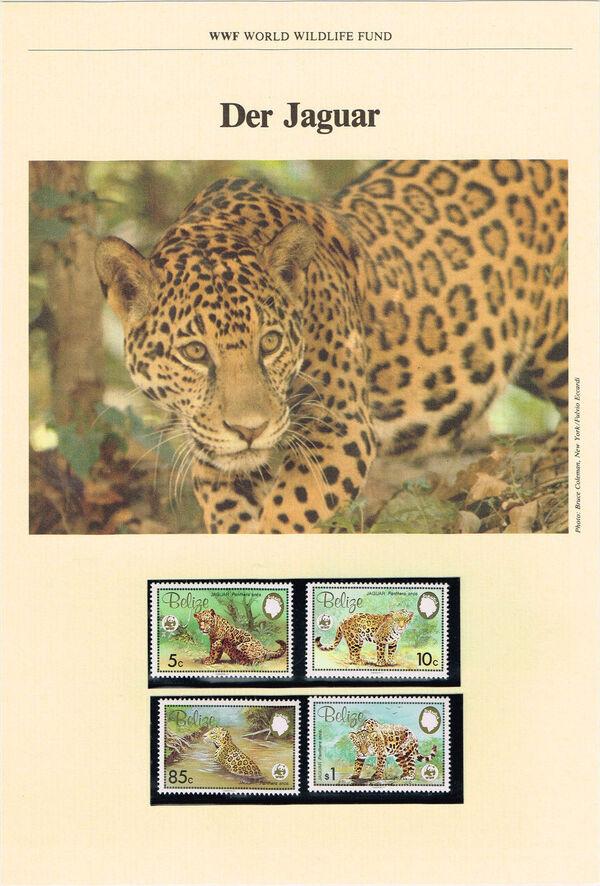 Belize 1983 WWF - Jaguar WWF-IOPb