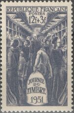 France 1951 Stamp Day a