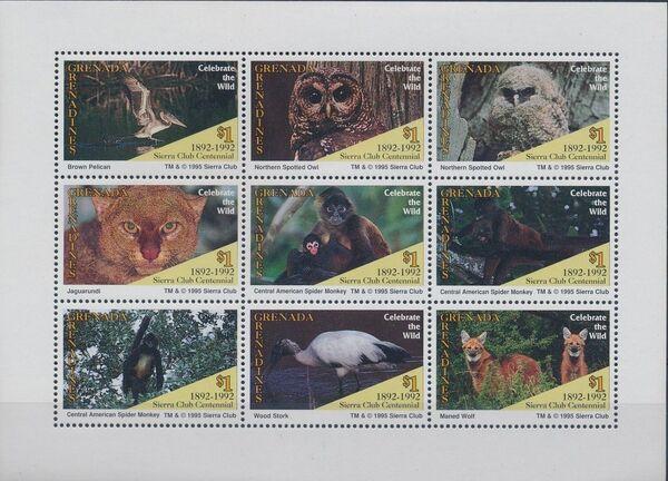 Grenada Grenadines 1995 100th Anniversary of Sierra Club - Endangered Species SSa