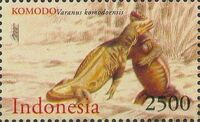 Indonesia 2000 WWF Komodo Dragon f