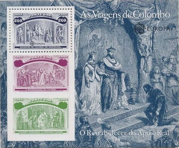 Portugal 1992 EUROPA - 5th Centenary of Discovery of America SSf