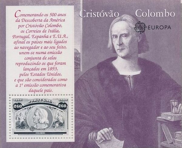 Portugal 1992 EUROPA - 5th Centenary of Discovery of America SSg