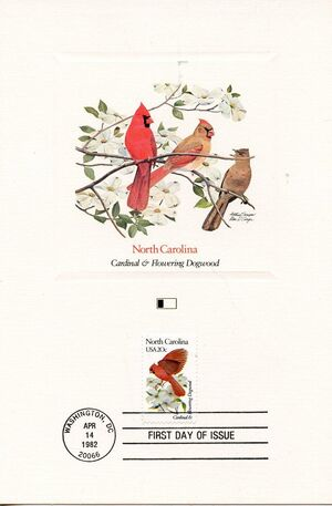 United States of America 1982 State birds and flowers FOLd6