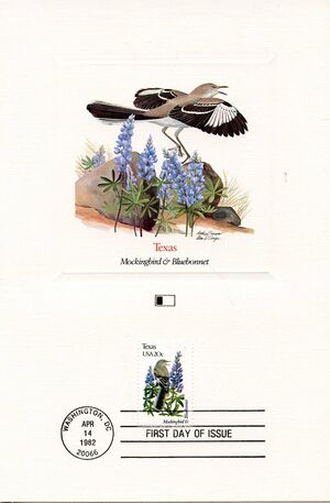 United States of America 1982 State birds and flowers FOLe7
