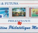 Wallis and Futuna 1989 Bicentenary of Declaration of Human Rights and PHILEXFRANCE 89