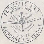 Andorra-French 1966 Launch of the French Satellite FR 1 PSMa