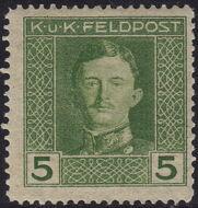 Austria 1917-1918 Emperor Karl I (Military Stamps) d