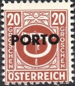 Austria 1946 Occupation Stamps of the Allied Military Government Overprinted in Black h