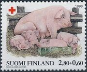 Finland 1998 Red Cross Fund - Pigs a