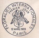 France 1969 3rd International. Flower Show in Paris PMa