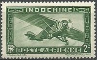 Indo-China 1933 Airmail - With Inscription RF b