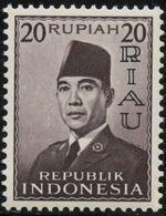 Indonesia-Riau 1960 President Sukarno - Definitives g