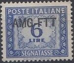 Trieste-Zone A 1950 Postage Due Stamps of Italy 1947-1954 Overprinted a