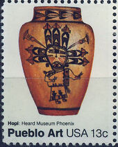 United States of America 1977 American Folk Art Series - Pueblo Pottery c