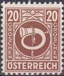 Austria 1945 Posthorn j