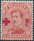 Belgium 1918 King Albert I (Red Cross Charity) d