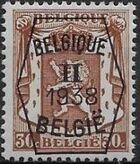 Belgium 1938 Coat of Arms - Precancel (2nd Group) d