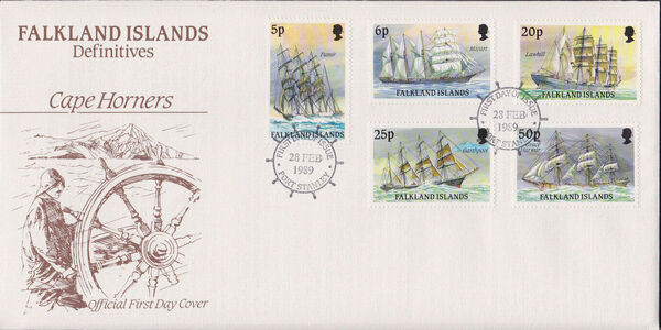 Falkland Islands 1989 Ships of Cape Horn FDCb