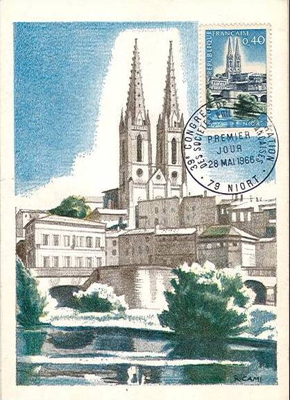 France 1966 Tourism - St. Andrew's and Sèvre River MCa