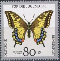 Germany-Unified 1991 Endangered Butterflies e
