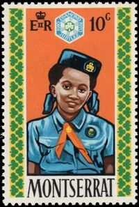 Montserrat 1970 60th Anniversary of Girl Guides a
