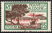 New Caledonia 1933 Definitives of 1928 Overprinted h